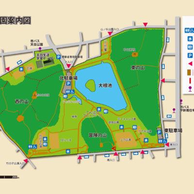 天白公園案内図
